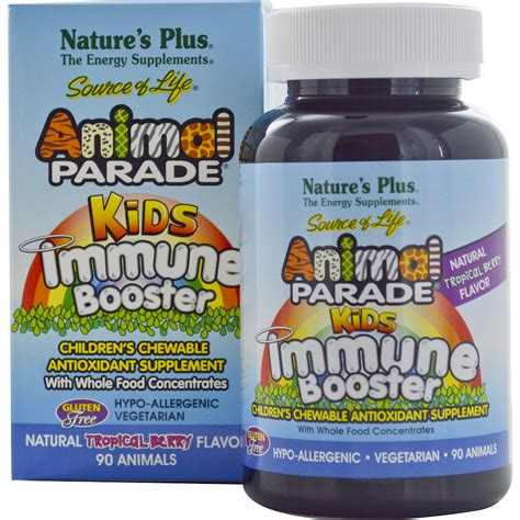 nature s plus source of animal parade immune booster tropical berry flavor