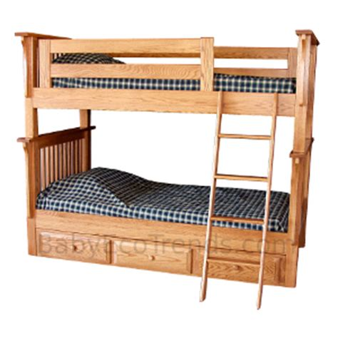 amish bunk beds amish pearce twin bunk bed solid hardwood usa made eco