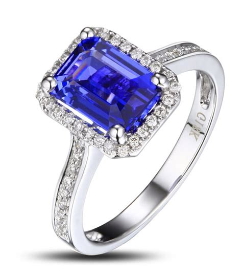 antique 1 50 carat emerald cut blue sapphire and