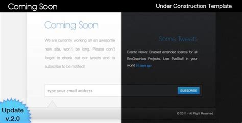 40 Html Under Construction Coming Soon Templates Web Graphic Design Bashooka Website Maintenance Message Template