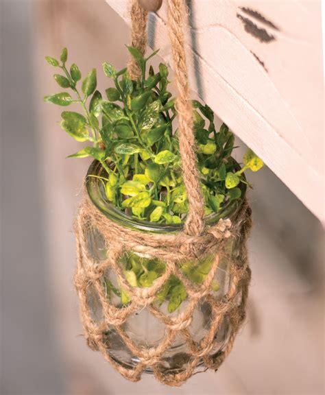 craft house designs hanging rope planter