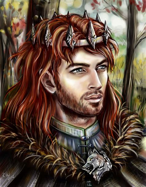 the king s crown is books file robb stark by riavel jpg a wiki of and
