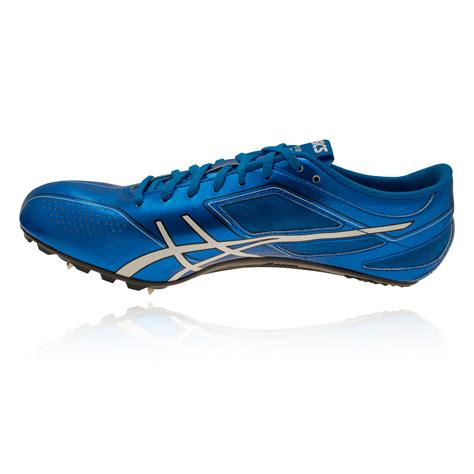 athletic spikes shoes asics sonicsprint mens blue running field spikes athletics