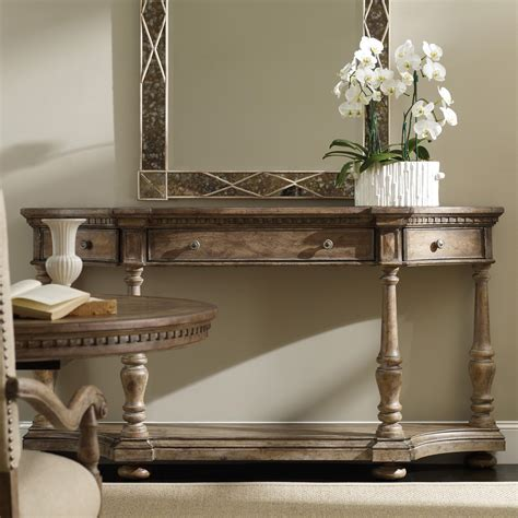 side table with swing out desk hooker furniture sorella demilune console with drop front