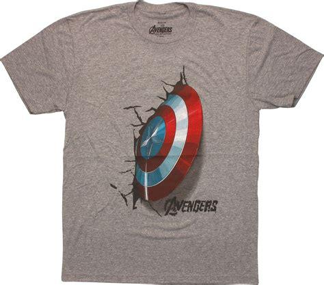 Tshirt Kaos Team Captain America captain america shield crash t shirt sheer