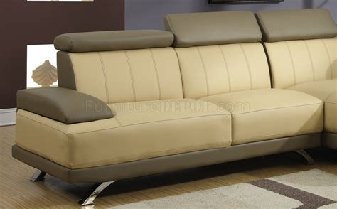 cappuccino leather sofa ulv8 sectional sofa in cappuccino bonded leather by global