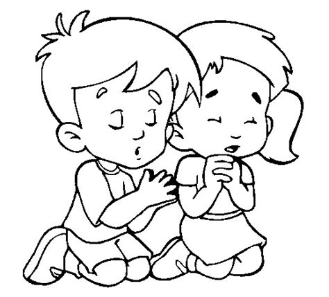 Praying Coloring Pictures For Kids Religious Coloring Children Praying Coloring Page