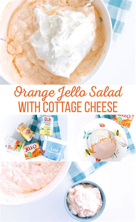 cottage cheese and jello orange jello salad with cottage cheese
