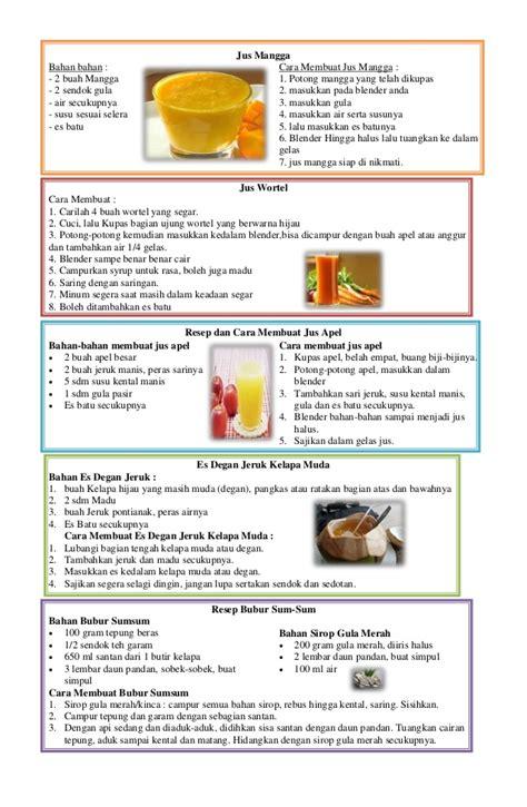 cara membuat jus mangga dalam bentuk bahasa inggris resep aneka minuman