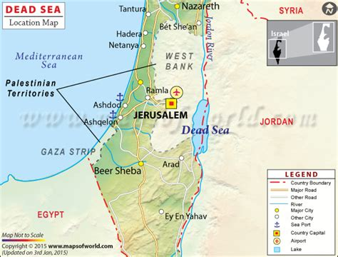 dead sea map dead sea travel information map location facts best time to visit