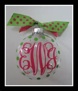vinyl monogrammed ornaments for christmas