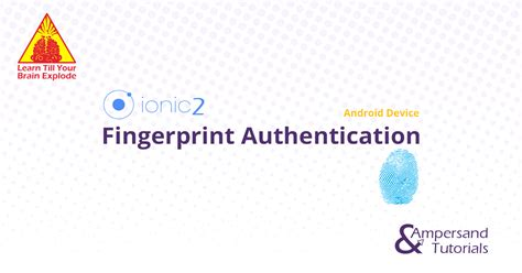 ionic authentication tutorial ionic 2 fingerprint plugin authentication using android device