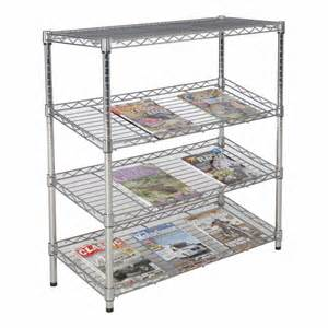 chrome metal shelving chrome wire slanted shelving speedy shelving from speedy