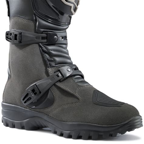 grey motorcycle boots tcx track evo wp boots anthracite grey free uk delivery