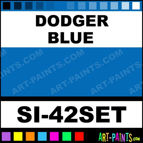 dodger blue dodger blue 42 pack tattoo ink paints si 42set dodger