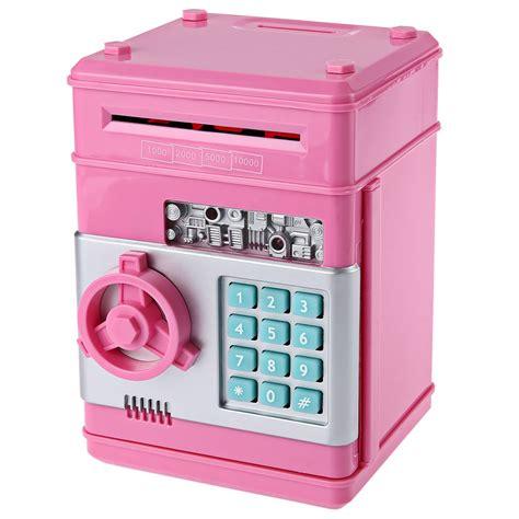 Safety Box Bank mini password piggy bank coins money safe box lock gift