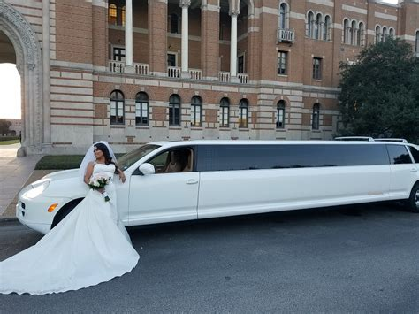Wedding Limo Service Porsche Limo For Wedding Limo Service Houston Limousine