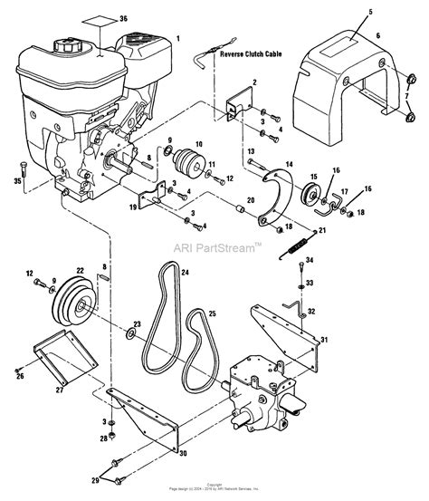 troy bilt tiller carburetor diagram troy bilt 21a 530 081 pony tiller 12181 s n 1100101 119999