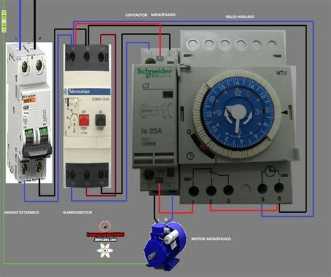 electrical diagrams contactor and hours esquemas