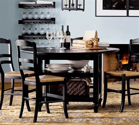 pottery barn shayne kitchen table this versatile black shayne kitchen table with isabella