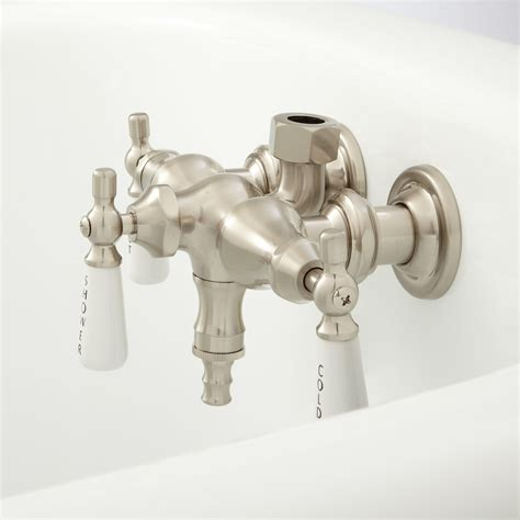 bathtub valves clawfoot tub diverter valve bathroom