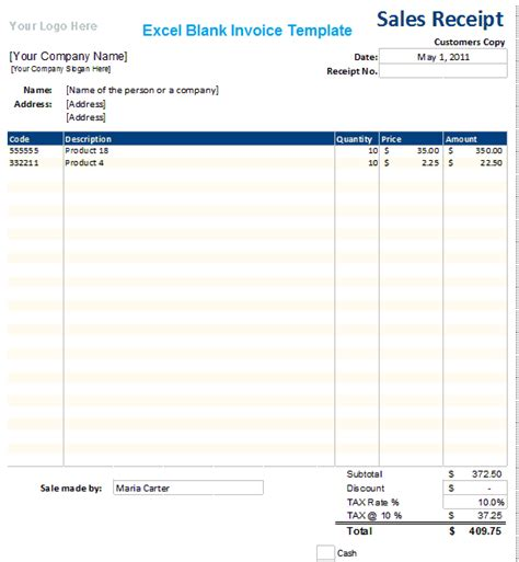standard invoice template excel pin official receipt free car on