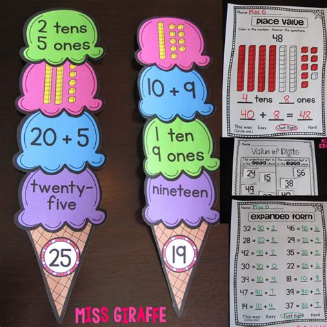 math craft projects miss giraffe s class grade math ideas for the