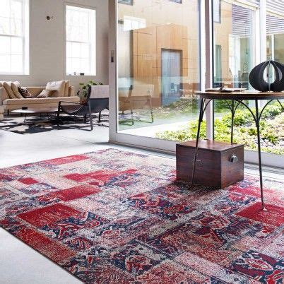 Patchwork Carpet Tiles - flor nizhoni patchwork rug in crimson home