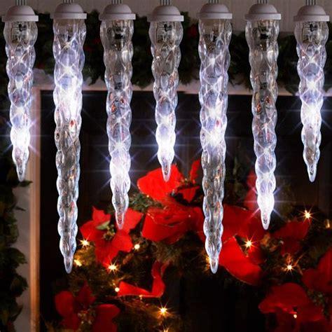 lightshow 10 count led shooting star icicle christmas