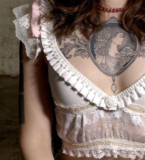 girl chest piece tattoos best 25 chest tattoos ideas on small