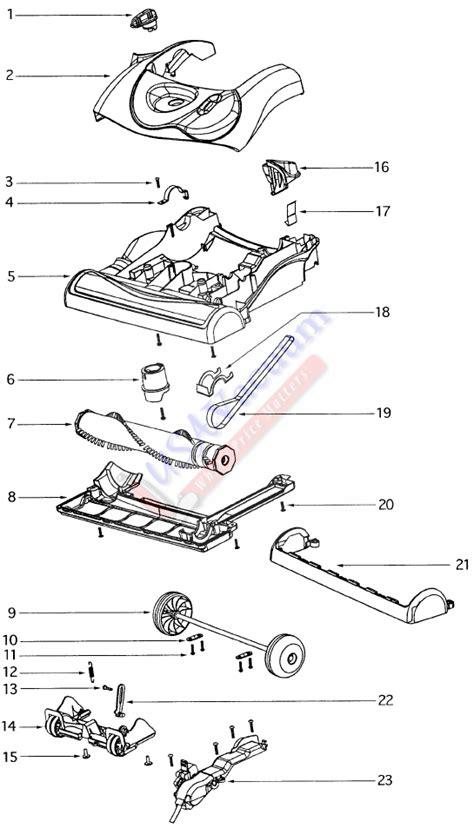 diagram eureka eureka 4870 ultra smart vac upright