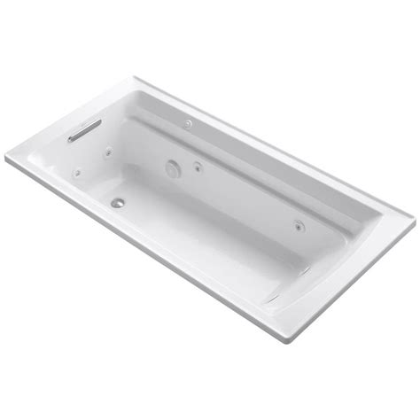 6 ft bathtub kohler archer 6 ft acrylic rectangular drop in whirlpool