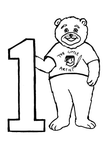 number 1 coloring page supercoloring com