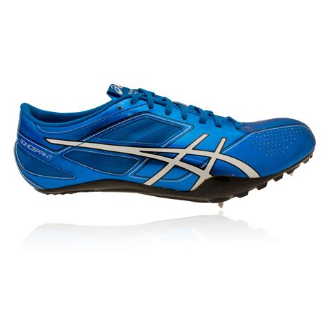athletic spike shoes asics sonicsprint mens blue running field spikes athletics