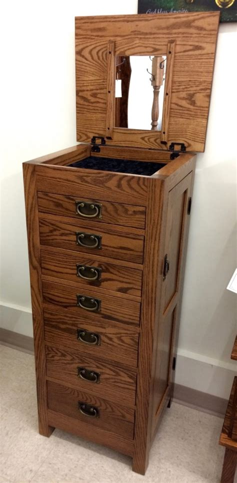 amish oak jewelry armoire flush mission jewelry armoire amish traditions wv