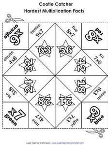 Multiplication Fortune Teller Template multiplication cootie catchers fortune tellers orgami
