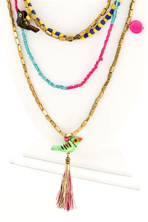 seed bead necklace seed bead layered necklace set necklaces