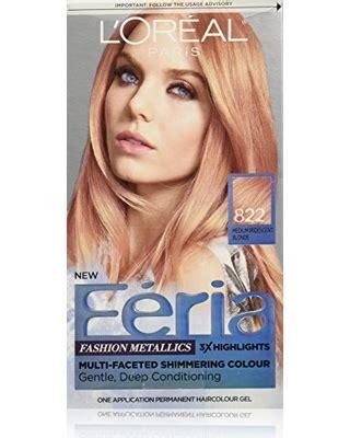 loreal rose gold hair color spectacular deal on l or 233 al paris feria permanent hair