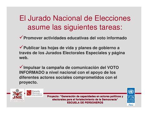 escuela de personeros 01 jurado nacional de elecciones jnegobpe escuela de personeros 01 jurado nacional de elecciones