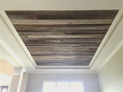 Tray Ceiling With Wood 17 Best Ideas About Wood Plank Ceiling On