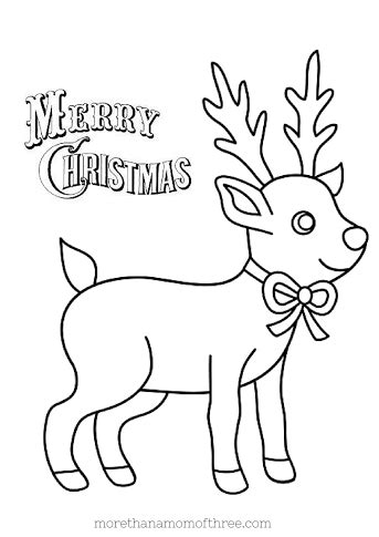 christmas coloring pages baby reindeer december 2014 page 4 of 7