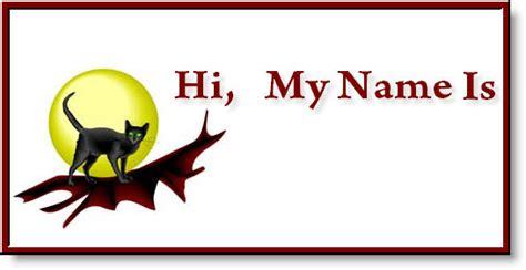 free printable name tags halloween free happy halloween pet id tags halloween pets name tags