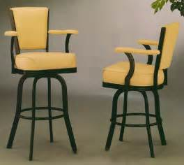 Swivel Bar Stools With Backs And Arms Metal Swivel Bar Stools With Back And Arms Home Bar Design