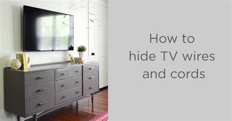 how to hide cords on clear the clutter how to hide tv wires and cords guest