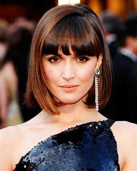 bob hairstyles with bangs 15 short blunt bob with bangs bob hairstyles 2017
