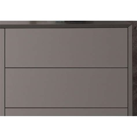 Commode Gris by Commode Design 6 Tiroirs Alborg Gris Mat Achat Vente
