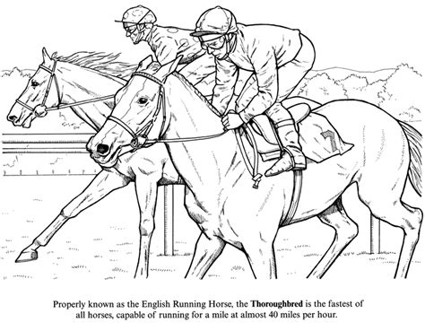 coloring pages of race horses racing color pages coloring page of racing