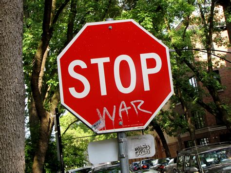 signs of an the schumin web 187 stop war sign