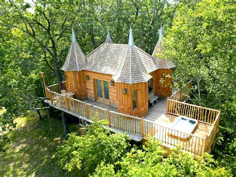 castle tree house plans fairytale treehouse castle in france offers the perfect forest getaway for all ages