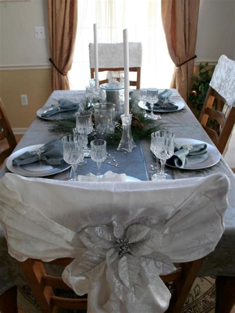 black blue and silver table settings christmas table decorations entertaining ideas party